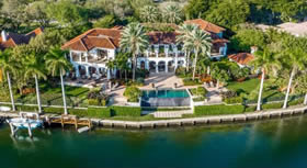 Mans�o De Luxo em Frente ao Mar para Venda em Coral Gables, Miami $22,500,000